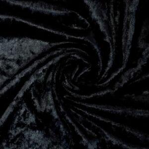 Plüss velúr – Fekete színű üni