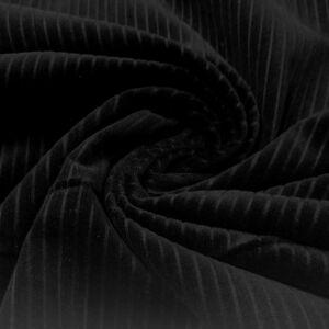 Kordbársony – Fekete színben, széles bordázattal