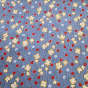 Puplin  – Színes virágos mintával, farmer hatású