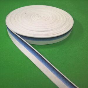 Gumiszalag 23mm – Kék-fehér színben