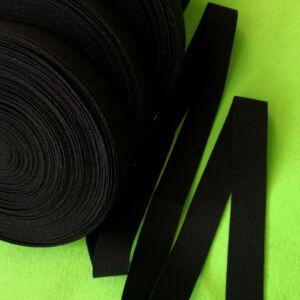 Gumiszalag – Nadrág gumipertli fekete színben, 25mm