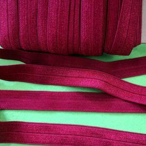 Gumiszalag – Szegőgumi bordó színben, 12mm