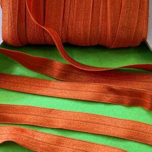 Gumiszalag – Szegőgumi narancssárga színben, 15mm