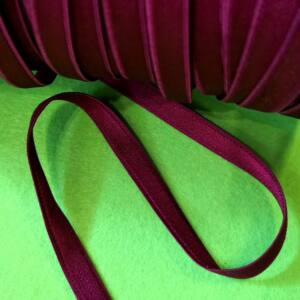 Gumiszalag – Szatén gumi (vállpánt gumi) bordó színben, 10mm