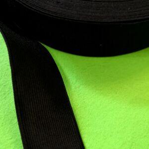 Gumiszalag – Nadrág gumipertli fekete színben, 30mm