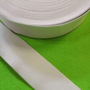 Gumiszalag – Nadrág gumipertli fehér színben, 40mm