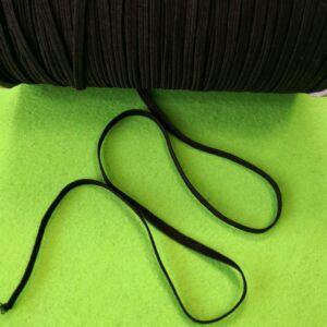 Gumiszalag – Lapos kalapgumi fekete színben, 3mm