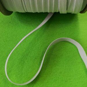 Gumiszalag – Gumipertli fehér színben, 6mm