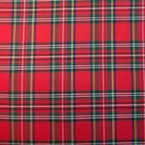 Műszálszövet – Skótkockás mintával, piros alapon