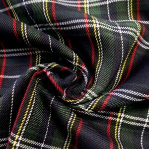 Műszálszövet – Skótkockás mintával, sötétkék alapon