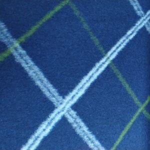 Kétfalas, kötött gyapjú textil  – Kék kockás mintával