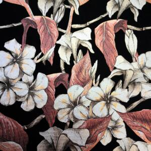 Scuba – Barna árnyalatú fényes liliom virágmintával