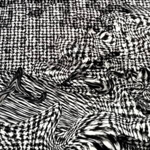 Scuba – Fekete és fehér elmosódó mintával