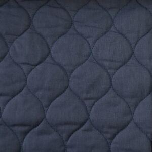 Kétoldalú steppelt pamut anyag – Szilvakék színben