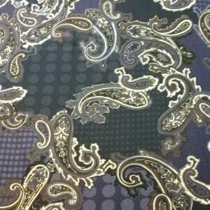 Flokon – Török stílusú amőba mintával, kék árnyalatban
