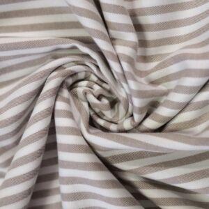 Flanel – Bézs és fehér keskeny csíkos mintával