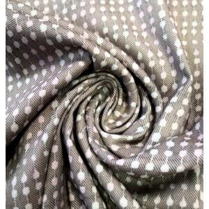 Elasztikus pamutszövet – Szürke alapon kis kockás mintával