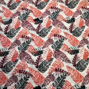 Batiszt – Fehér alapon színes falevél mintával