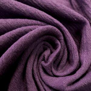 Géz anyag – Lila színű üni, gyűrt