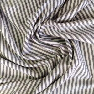 Flanel – Fehér-szürke csíkos mintával