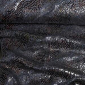 Műszőrme – Kígyóbőr mintával, fekete színben