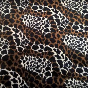 Műszőrme – Zsiráf mintával
