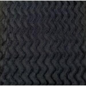 Műszőrme – Fekete színben, hullám mintával