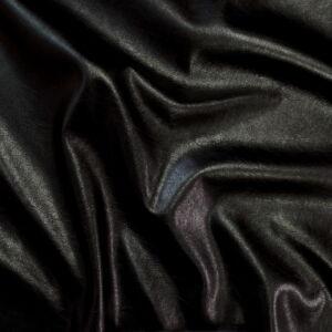 Műbőr – Textilbőr fekete színben, metál fényű