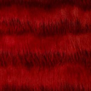 Műszőrme – Piros színben, hosszú szőrű