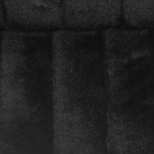 Műszőrme – Fekete színben, bordázott mintával