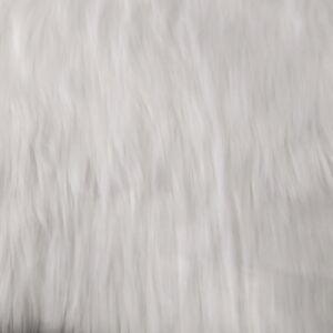 Műszőrme – Fehér színben, hosszúszőrű