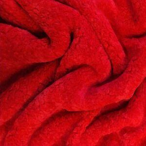 Műszőrme – Piros színben