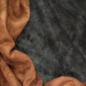 Műszőrme – Velúros hátoldallal, barna színben