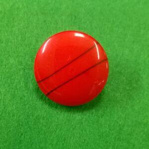 Műanyag gomb – Polli piros színben, 32-es