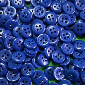 Inggomb – Matt kiráykék színben, négylyukú, 10mm