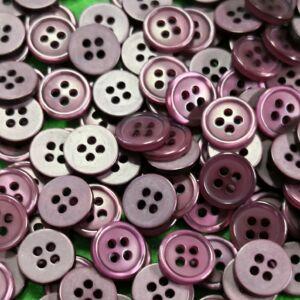 Inggomb – Sötét lila színben, négylyukú, 11mm