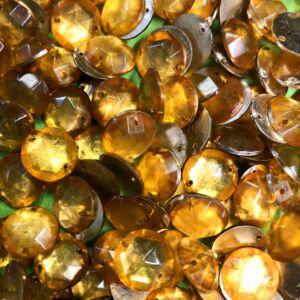 Felvarrható domború strassz - Arany színben