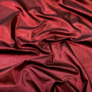 Műszál szövet – Meggypiros színű, lurex