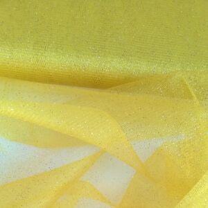 Mesh Tüll – Citromsárga színben, csillogó
