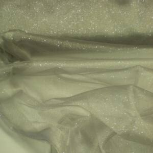 Mesh Tüll – Ezüst színben, csillogó