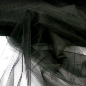 Lágy Tüll – Fekete színben, extra széles