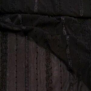 Lágy tüll – Fekete színben, csillogó díszítéssel