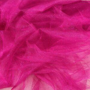 Mesh Tüll – Pink színben, csillogó
