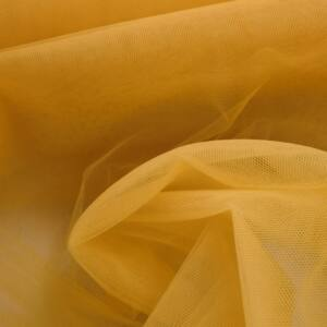 Lágy tüll – Napsárga színben, extra széles