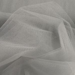 Lágy tüll – Világosszürke színben, extra széles