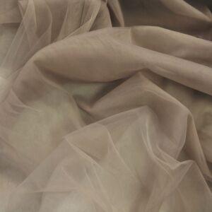 Lágy tüll – Fahéj barna színben, extra széles