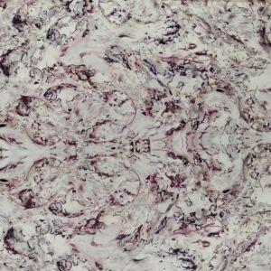 Muszlin – Elasztikus, lila márvány mintával
