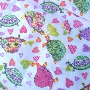Pamutvászon – Szerelmes teknősök mintával