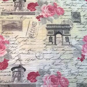 Krepp – Rózsa és kézírás mintával
