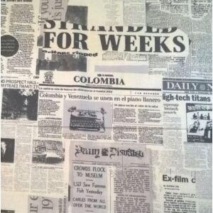 Pamutvászon – Fekete-fehér újság mintával